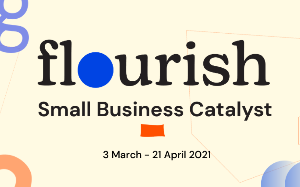 flourish- small business catalyst cover image created by The Creative Co-Operative, the web design company