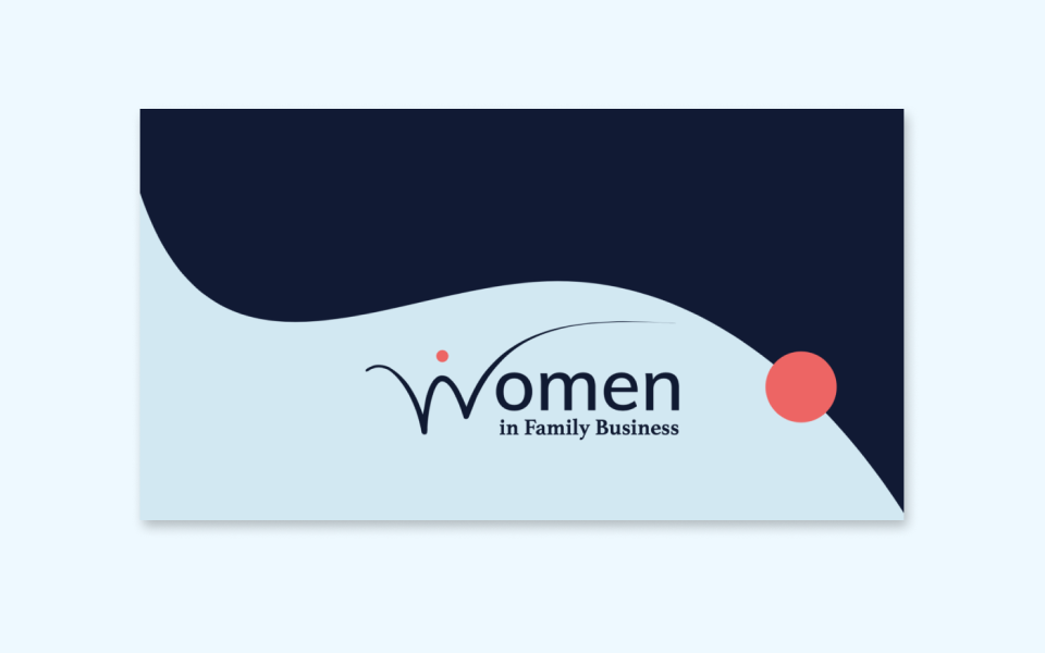 Women in Family Business Project header created by The Creative Co-Operative, a marketing agency for small businesses