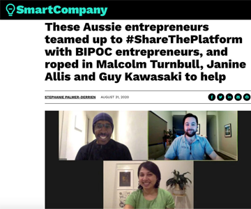 A Smart company article featuring share the platform project